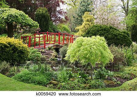 Stock photography of english garden k0059420 search for English garden wall mural