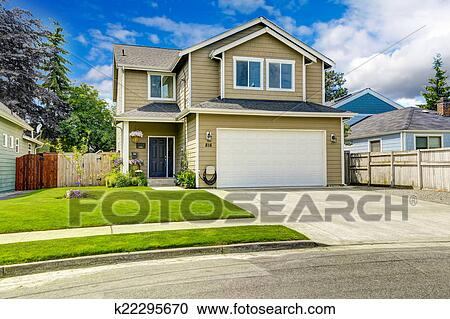 Marvelous Two Story House Stock Photo Images 2 120 Two Story House Royalty Largest Home Design Picture Inspirations Pitcheantrous
