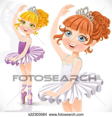 Beautiful Little Ballerina Girl In Yellow Dress And Tiara ...   Ballerina Tiaras Cartoon