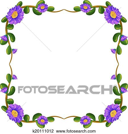 clipart of a floral margin with violet flowers k20111012 search rh fotosearch com Lavender Background Lavender Background
