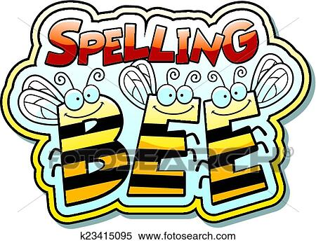 clipart of cartoon spelling bee k23415095 search clip art rh fotosearch com spelling bee clip art gallery spelling bee clip art images