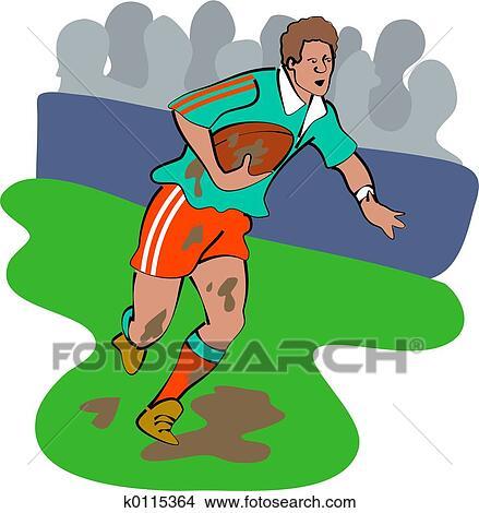 Dessins joueur rugby k0115364 recherche de clip arts d 39 illustrations et d 39 images - Dessin de joueur de rugby ...