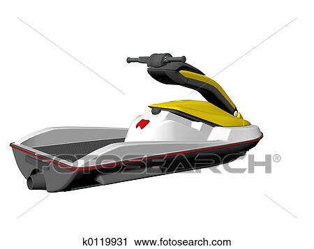 Clipart jet ski k0119931 recherchez des clip arts des illustrations des dessins et des - Jet ski dessin ...