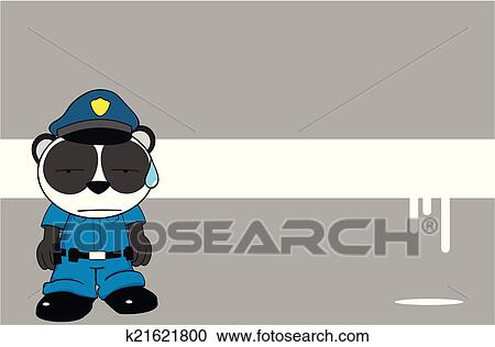 剪贴画 熊猫熊, 警察, 卡通漫画, background00高清图片
