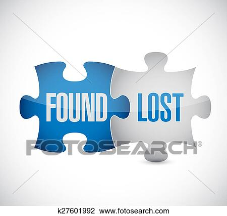 clip art of found and lost puzzle pieces sign k