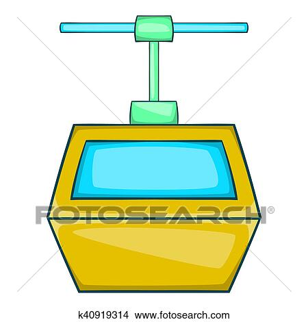 drawings of ski lift gondola icon, cartoon style k40919314 - search