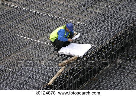 Pictures of project manager reading the site plans for How to read construction site plans