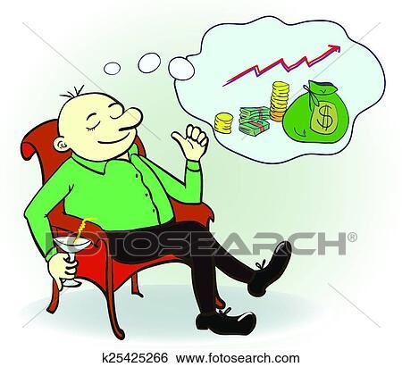 clip art of man dream about money concept vector illustration rh fotosearch com dreamcatcher clipart free dreamcatcher clipart free