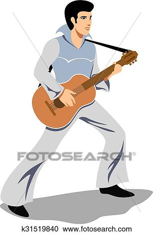 clipart of musician artist like elvis presley with a guitar vector rh fotosearch com elvis clip art images elvis clip art free