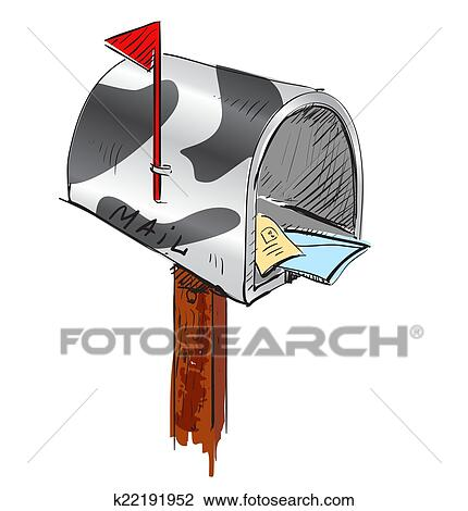clipart of mailbox cartoon icon k22191952 search clip art rh fotosearch com clipart christmas mailbox mailbox clipart black and white