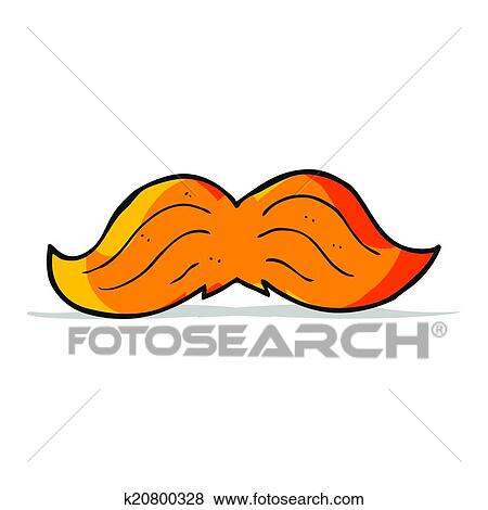 Clipart dessin anim gingembre moustache k20800328 - Dessin de moustache ...