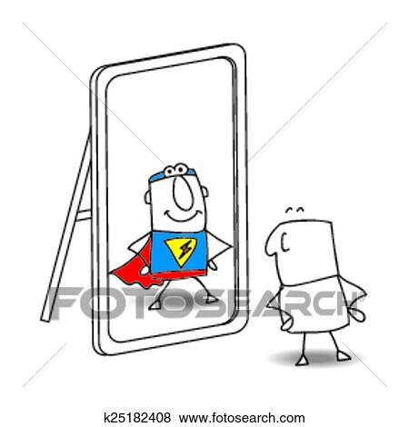 Clipart les miroir k25182408 recherchez des cliparts for Miroir psychologie
