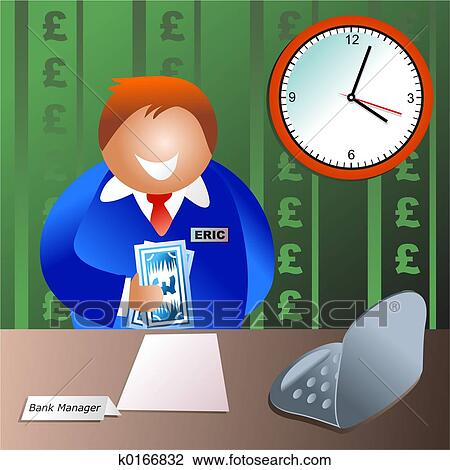 clip art of bank manager k0166832 search clipart