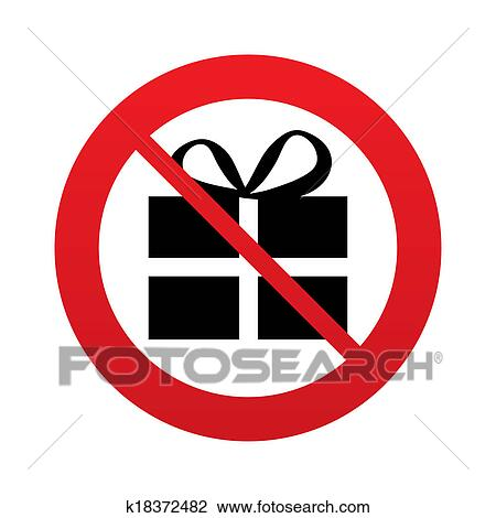 Clip art of no gift box sign icon present symbol k18372482 clip art no gift box sign icon present symbol fotosearch search negle