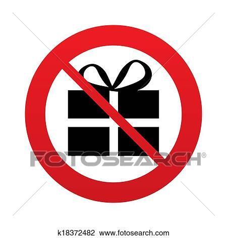 Clip art of no gift box sign icon present symbol k18372482 clip art no gift box sign icon present symbol fotosearch search negle Gallery