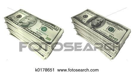 Clipart of Money Stacks 02 k0178651 - Search Clip Art ...