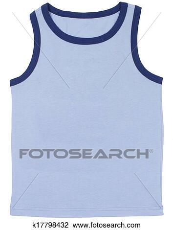 Stock Photo of Sleeveless unisex shirt isolated on white ...