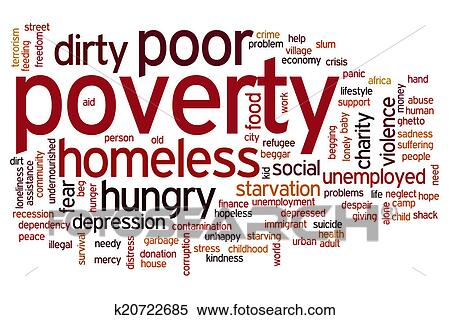 Stock Illustration - Poverty word cloud. Fotosearch - Search Clipart ...