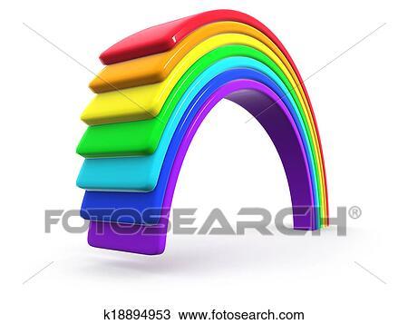 banque de photo 3d plastique arc en ciel k18894953 recherchez des images des. Black Bedroom Furniture Sets. Home Design Ideas