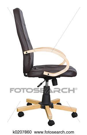 Stock fotografie brauner stuhl seite k0207860 suche for Brauner stuhl