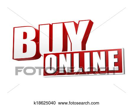 Stock Photography Of Buy Online In 3d Letters And Block