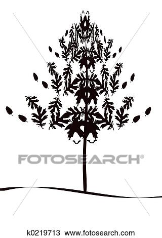 手绘图 树