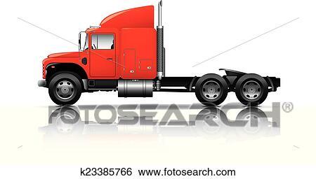 Captivating semi truck vector art pictures