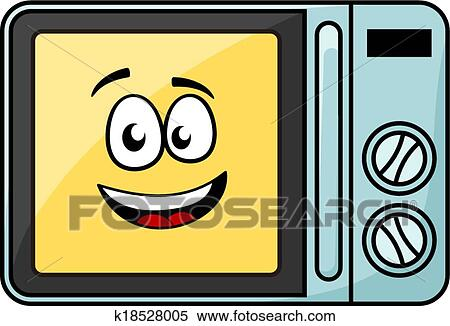 clipart of cute cartoon microwave oven k18528005 search clip art illustration murals. Black Bedroom Furniture Sets. Home Design Ideas