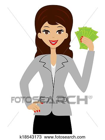 clipart of successful business woman k18543173 search clip art rh fotosearch com free clipart business woman free clipart business woman