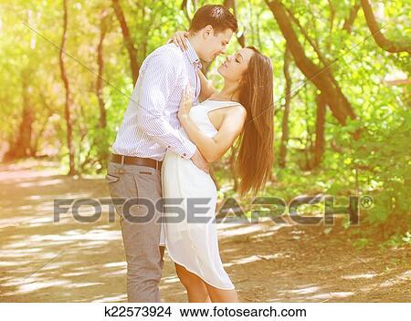 Banque de Photo - joli, jeunes adolescents, couple