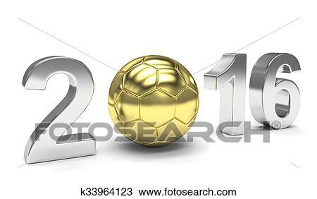 手绘图 - 新年, 2016, 同时,, 足球图片