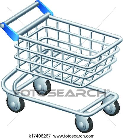 Clip art of shopping trolley icon k17406267 search for Disegno 3d free