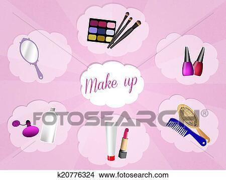 手绘图 - 化妆