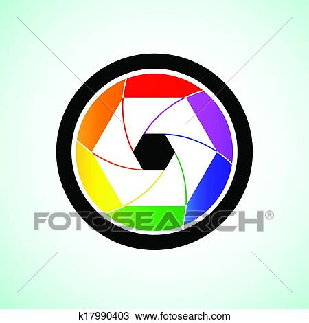 Clipart of Colorful camera shutter lens k17990403 - Search Clip ...