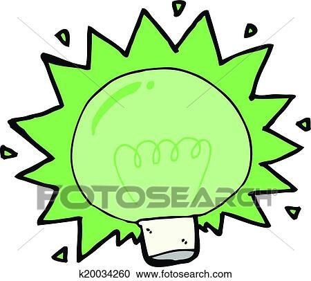 clipart dessin anim clignotant feu vert ampoule k20034260 recherchez des clip arts des. Black Bedroom Furniture Sets. Home Design Ideas