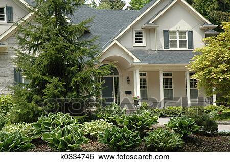 Banque d 39 images beige stuc maison k0334746 for Maison en stuc