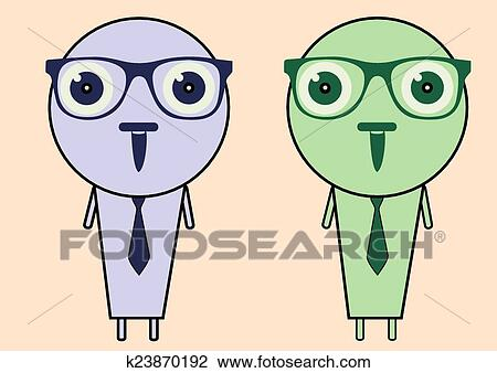 Clipart of Intelligent people k23870192 - Search Clip Art ...