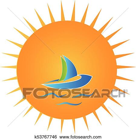 clip art of sunny day blue boat logo k53767746 search clipart rh fotosearch com sunny fall day clipart sunny fall day clipart