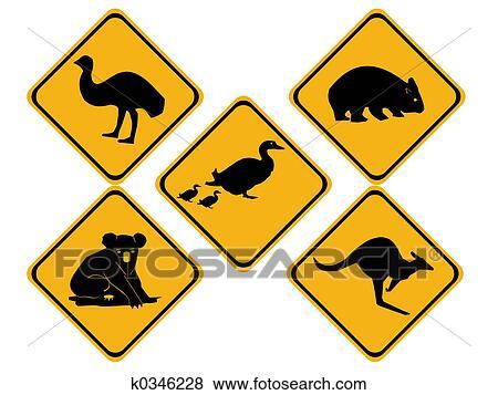 Australian Wildlife Drawings Australian Wildlife Road Signs