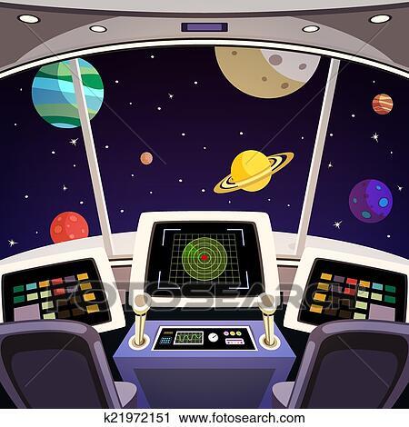Clipart vaisseau spatial dessin anim int rieur for Interieur vaisseau spatial