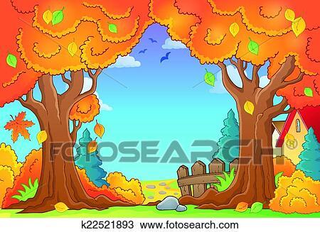 剪贴画 - 秋季, 树, 主题, 作品, 1图片