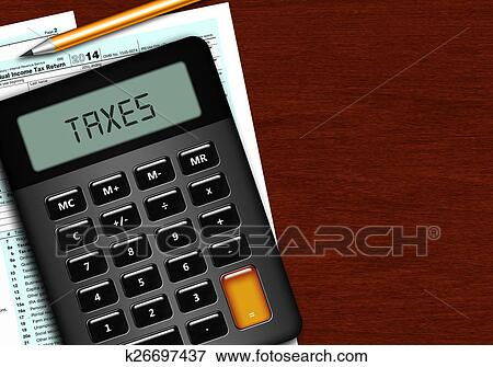 Stock illustration of u s individual income tax return for 1040 tax table calculator