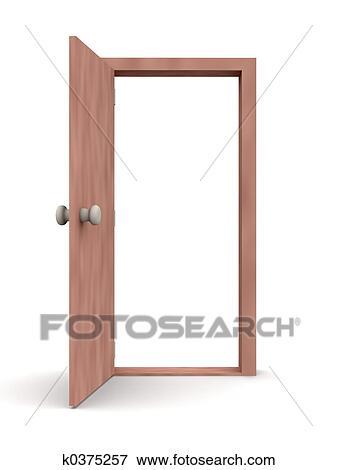 Banque d 39 illustrations porte ouverte dessin anim for Porte ouverte dessin