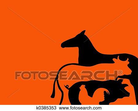 Disegno animali fattoria k0385353 cerca clipart for Stampe di fattoria gratis