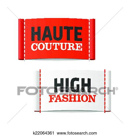 Clipart of haute couture and high fashion k22064361 for Haute couture labels
