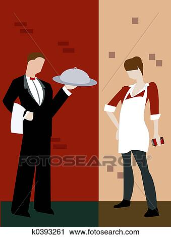 Clipart of Food Service k0393261 - Search Clip Art, Illustration ...