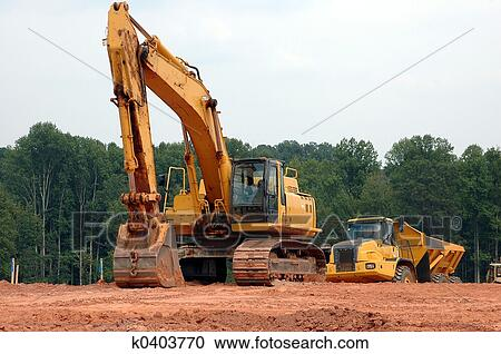 Stock photography of construction site k0403770 search for Construction site wall mural