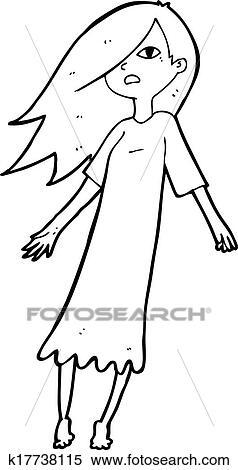 Clipart cartone animato fantasma come ragazza - Cartone animato immagini immagini fantasma immagini ...