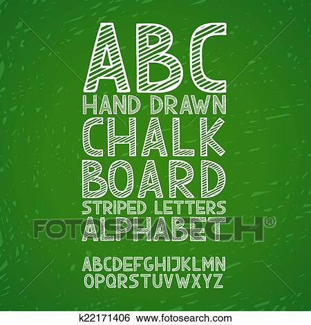 Clipart tableau noir tableau craie main dessiner griffonnage abc alphabet grunge - Tableau noir craie grand format ...