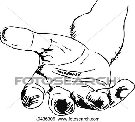 Stock Illustration - helping hand  Fotosearch - Search Clip Art